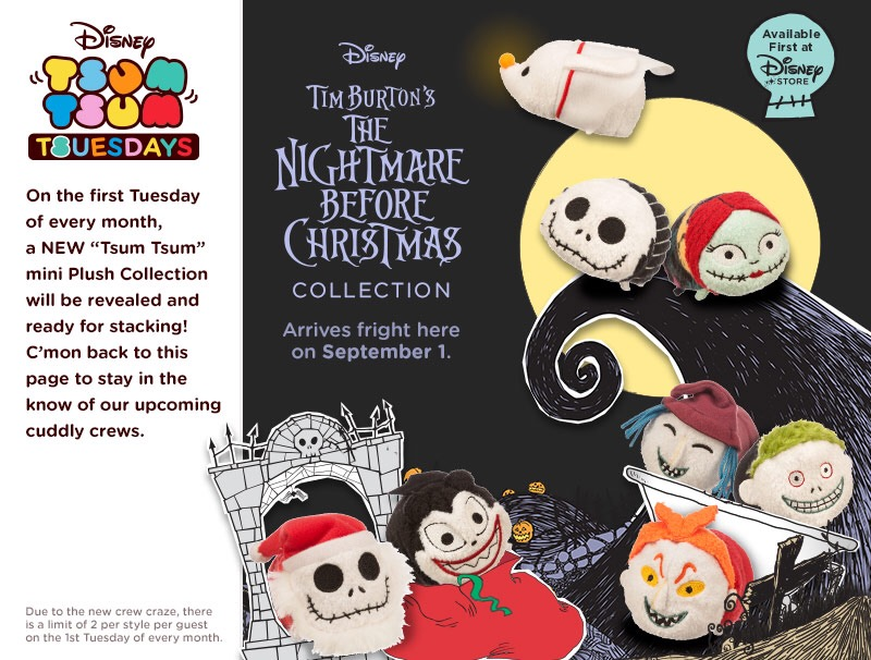Nightmare Before Christmas Tsum Tsums to be Released Tomorrow ...