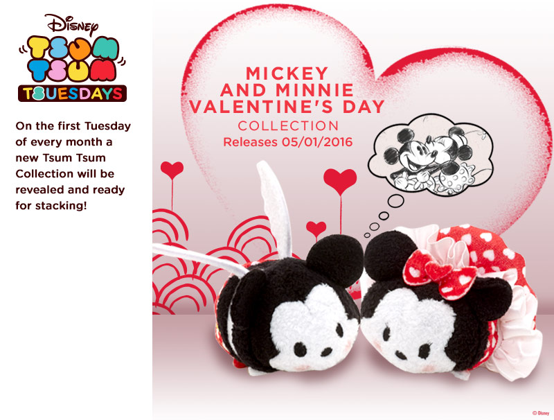 New Mickey And Minnie Valentine S Day Tsum Tsum Set To Be