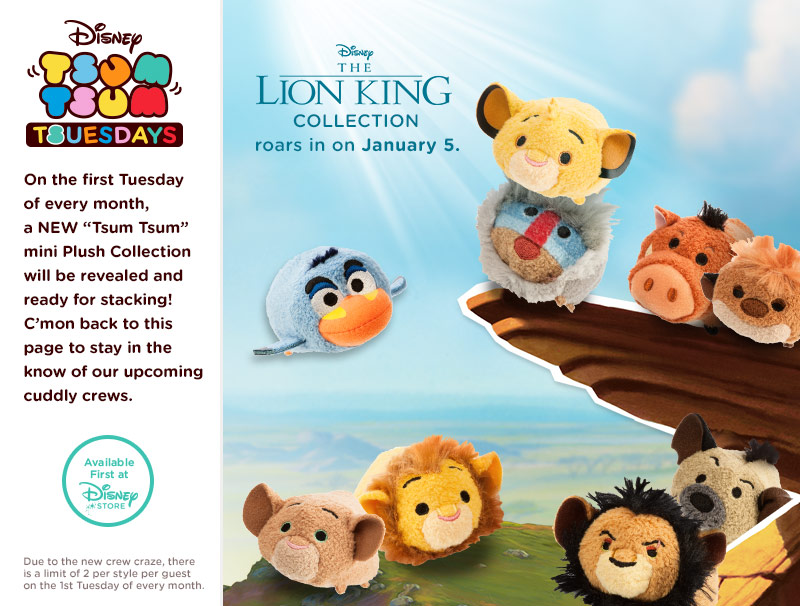 Lion King Tsum Tsum Collection To Be Released In January