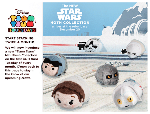 Star Wars Hoth Tsum Tsum Collection Officially Announced for US!