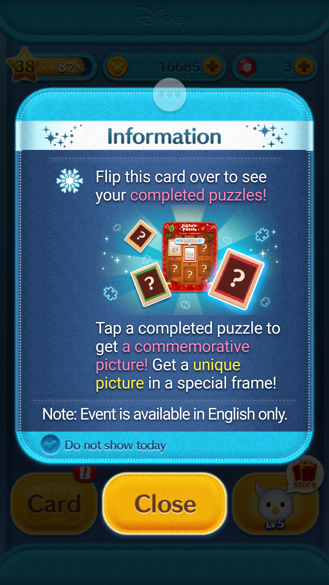 New Jigsaw Puzzle Event in the Disney Tsum Tsum App!  8854d7cbe