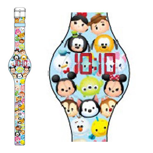 New disney tsum tsum all over print led watch by accutime now available for pre order disney for Tsum tsum watch