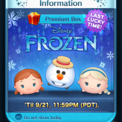 Last Lucky Time for Frozen Tsum Tsum in the Disney Tsum Tsum App!