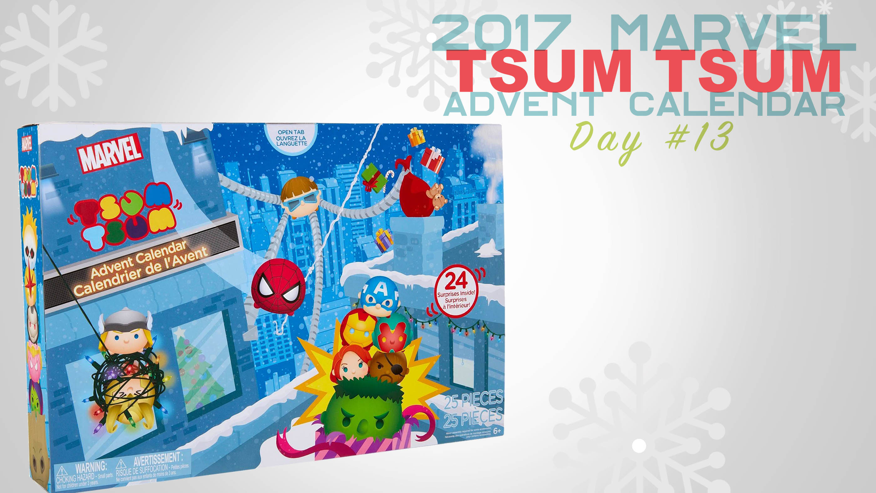jakks pacific marvel tsum tsum advent calendar reveal day. Black Bedroom Furniture Sets. Home Design Ideas