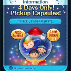 Pickup Capsule Update in the Disney Tsum Tsum App!