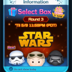 Select Box: Round 3 in the Disney Tsum Tsum App!