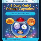 Pickup Capsules in the Disney Tsum Tsum App!