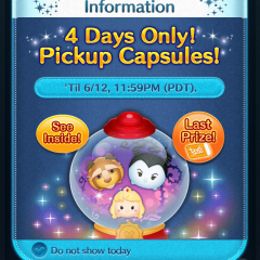 Pickup Capsule in the Disney Tsum Tsum App!