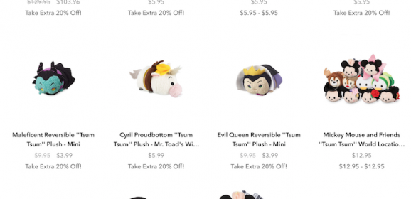 Get up to 60% Off Disney Tsum Tsums from Shop Disney!